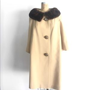 SALE! Vintage Wool Coat, 50s style by Golet